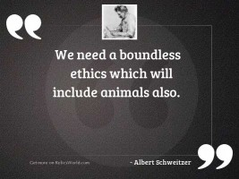 We need a boundless ethics