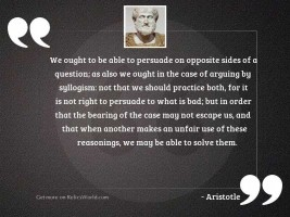 We ought to be able