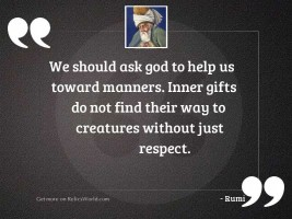 We should ask God to