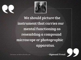 We should picture the instrument