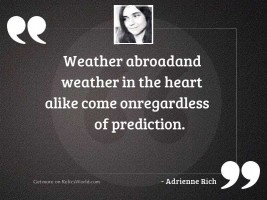 Weather abroadand weather in the