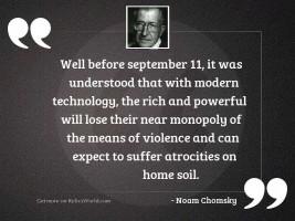 Well before September 11, it