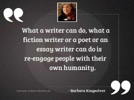 What a writer can do,