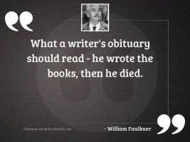 What a writer's obituary
