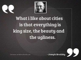 What I like about cities
