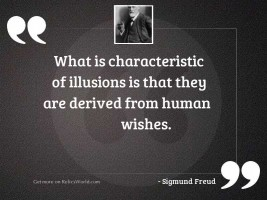 What is characteristic of illusions