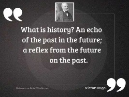 What is history? An echo