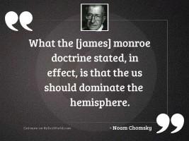 What the [James] Monroe Doctrine