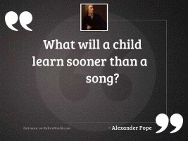 What will a child learn