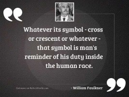 Whatever its symbol   cross or