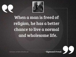 When a man is freed