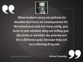 When leaders carry out policies