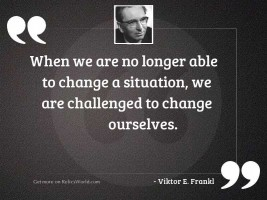 When we are no longer