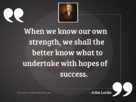 When we know our own