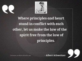 Where principles and heart stand