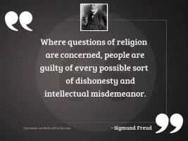 Where questions of religion are