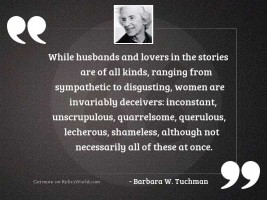 While husbands and lovers in