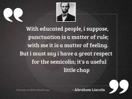 With educated people, I suppose,