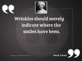 Wrinkles should merely indicate where