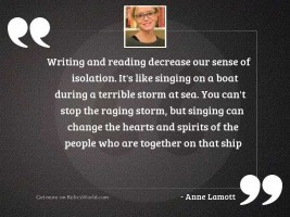 Writing and reading decrease our