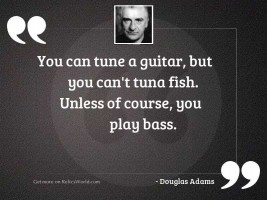 You can tune a guitar