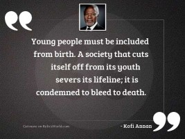 Young people must be included