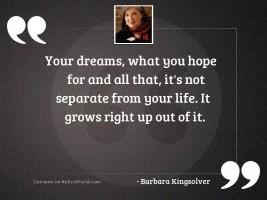 Your dreams, what you hope