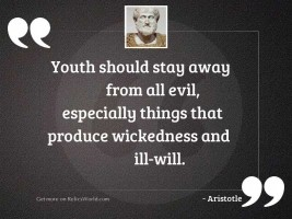 Youth should stay away from