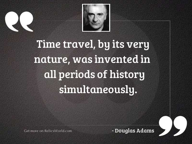 Time travel by its very