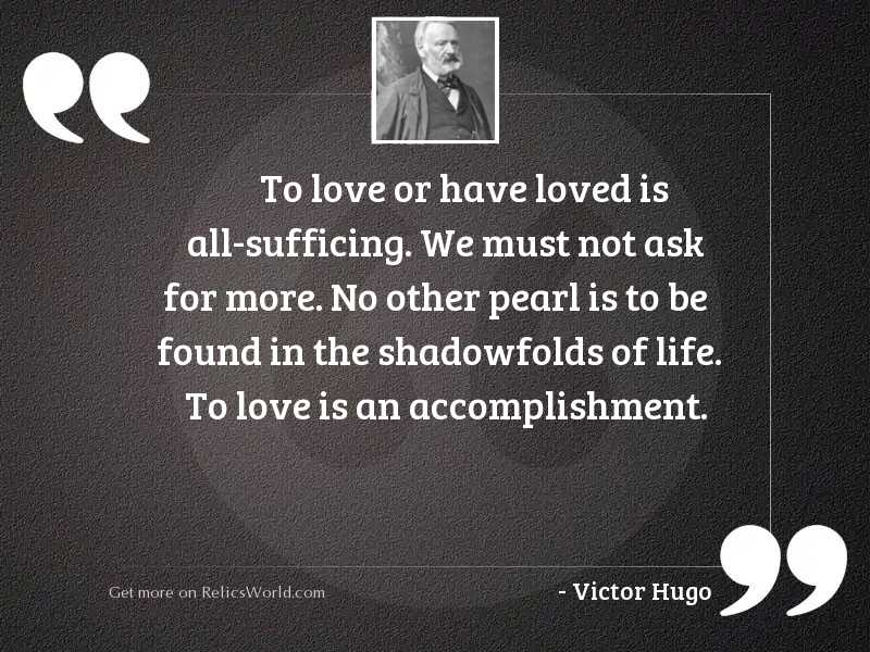 To love or have loved
