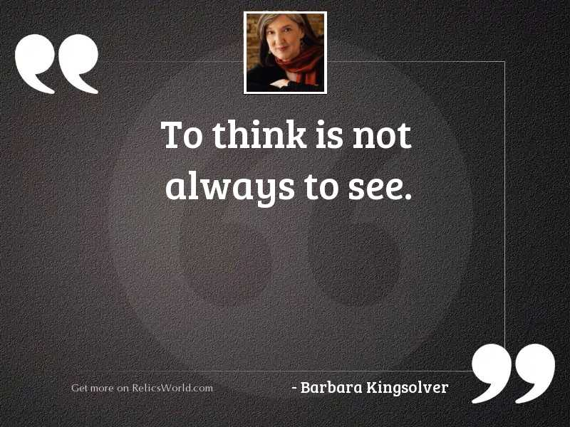 To think is not always