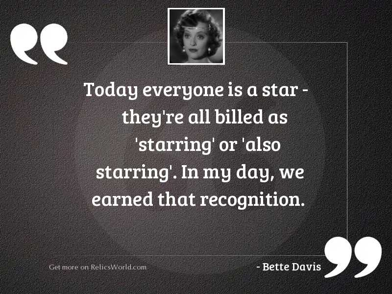 Today everyone is a star