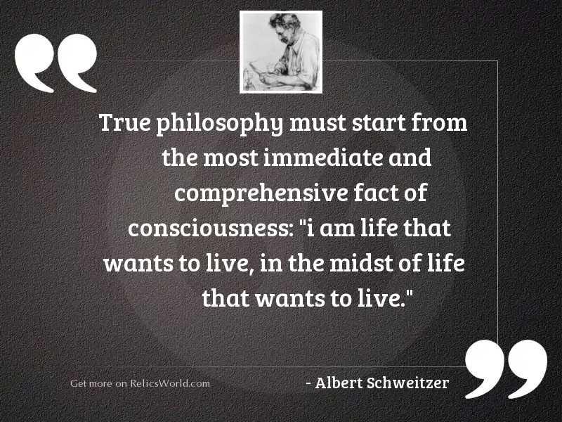 True philosophy must start from