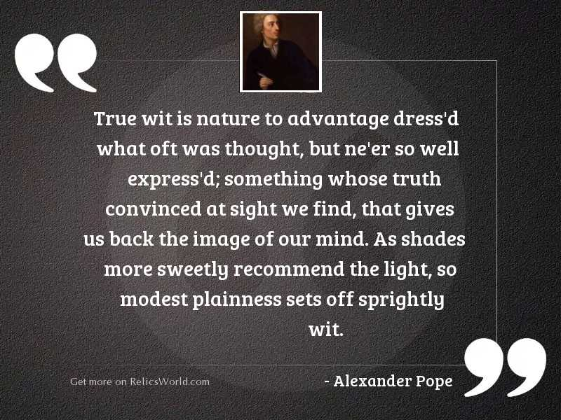 True Wit is Nature to
