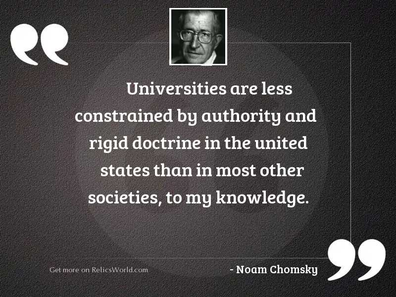 Universities are less constrained by