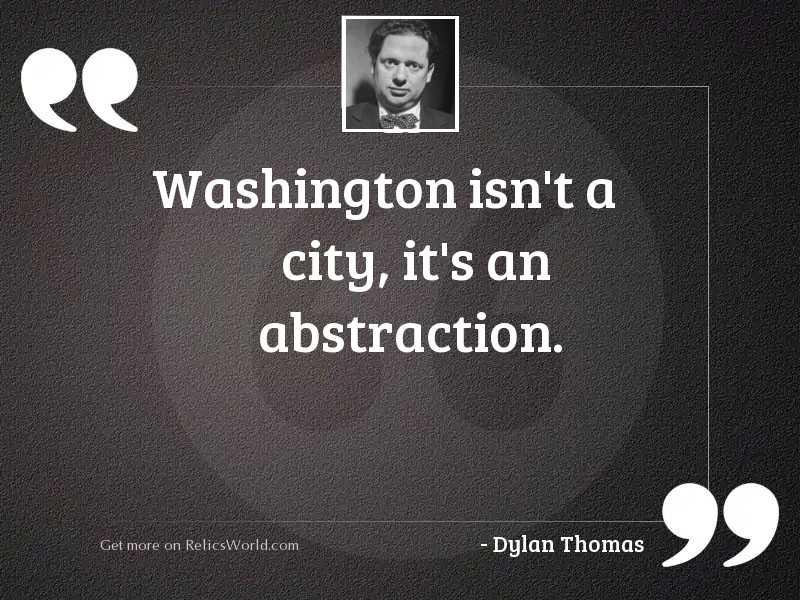 Washington isnt a city its