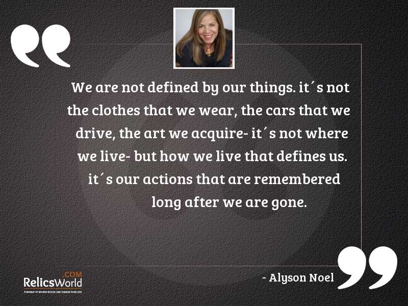 We are not defined by