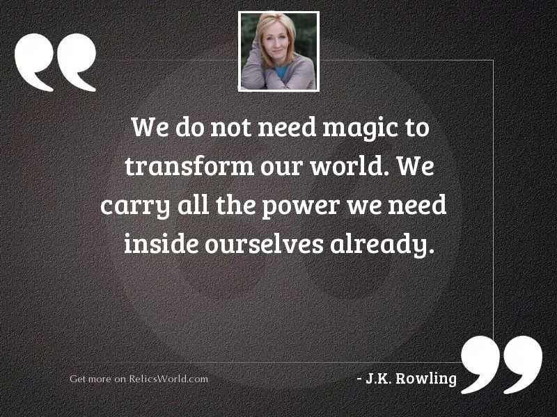 We do not need magic