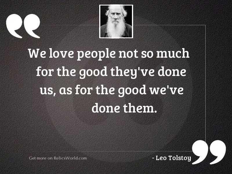 We love people not so