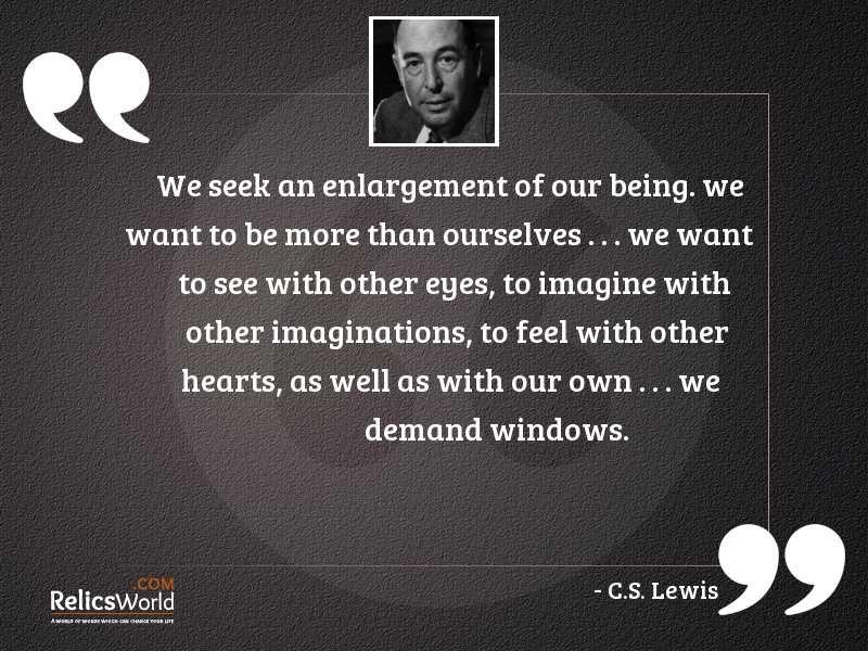 We seek an enlargement of
