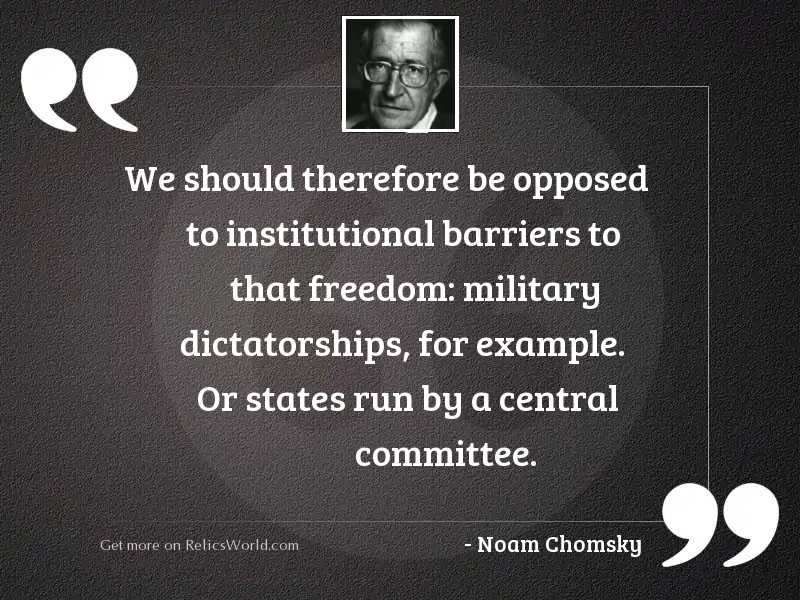 We should therefore be opposed