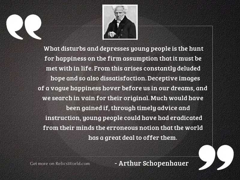 What disturbs and depresses young