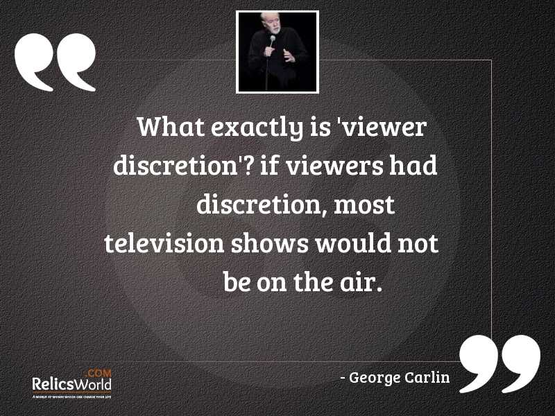 What exactly is viewer discretion