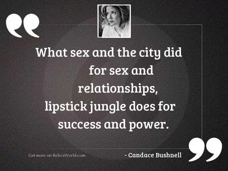 What Sex and the City