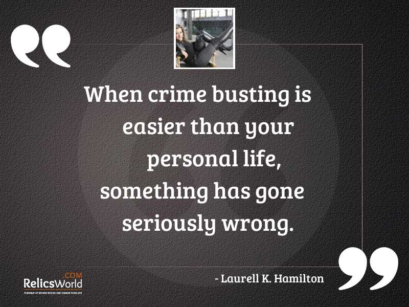 When crime busting is easier