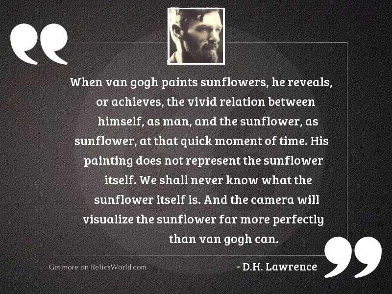 When van Gogh paints sunflowers