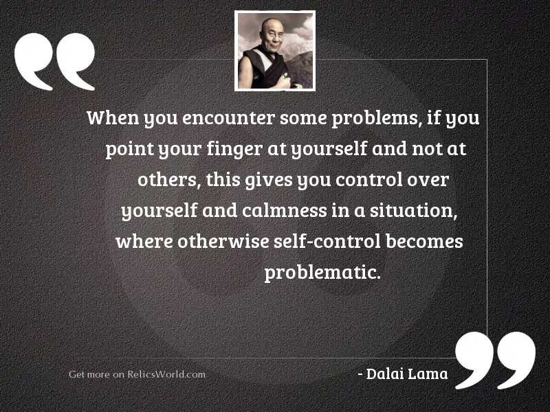 When you encounter some problems,