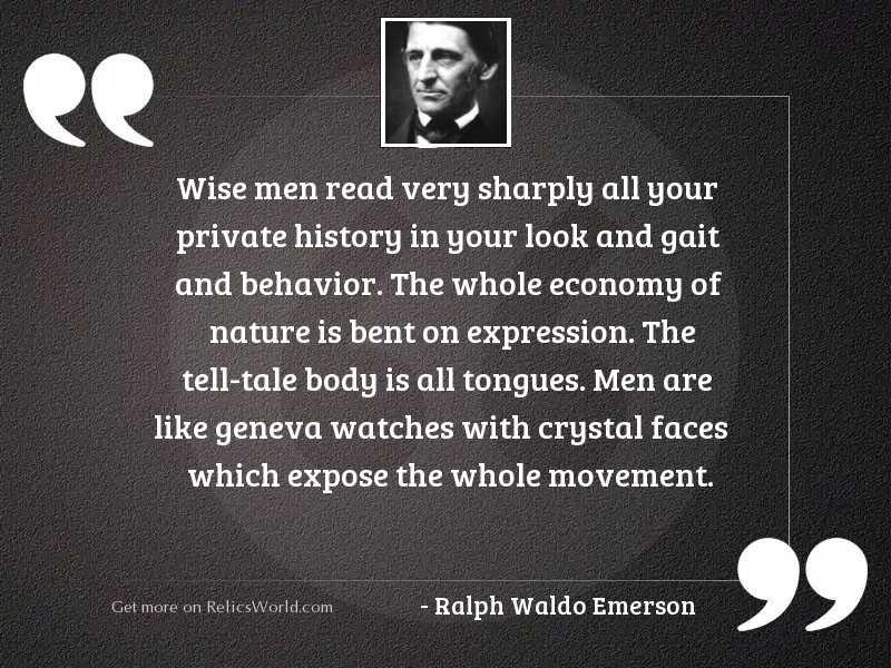 Wise men read very sharply