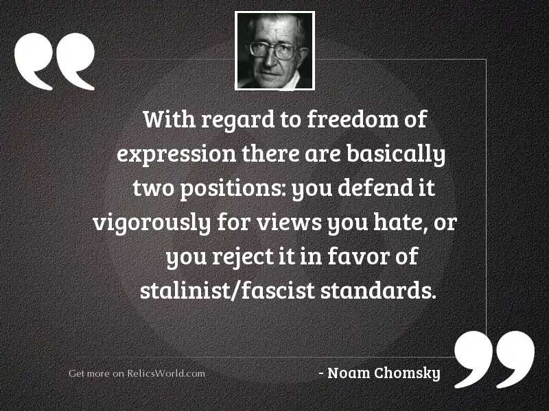 With regard to freedom of