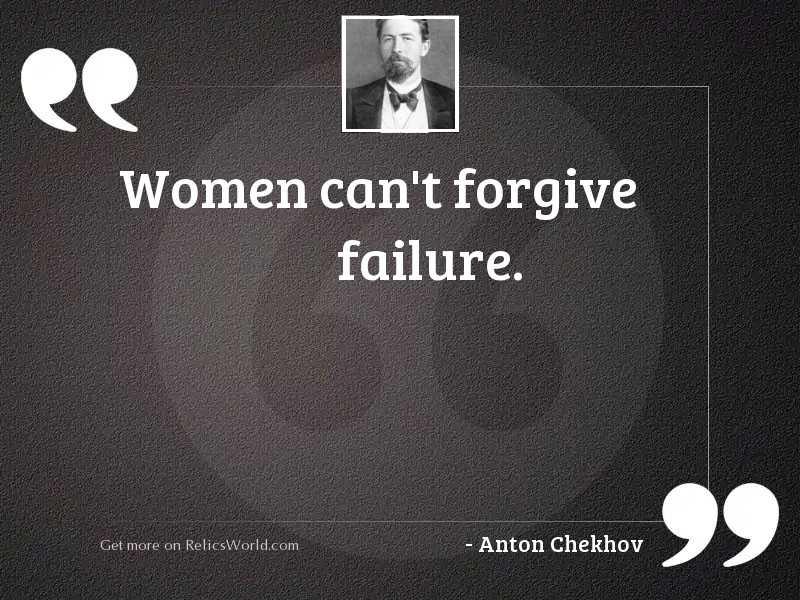 Women cant forgive failure